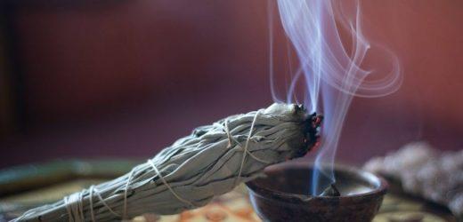 Quel est le but de la combustion de la sauge ?