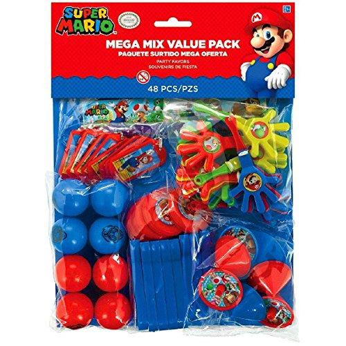 amscan 396607Super Mario Mega Mix Value Pack