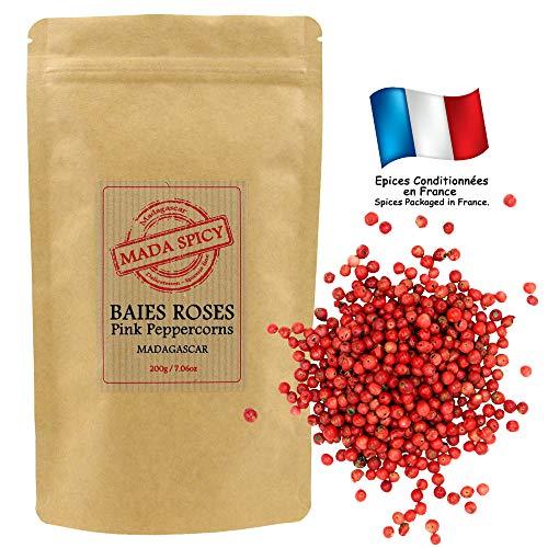 """Baies roses qualité gourmet de Madagascar 200gr """"Agriculture Durable"""" sachet refermable."""