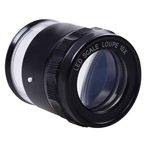 H/L Échelle LED 10X Type Cylindre Loupe HD Mesure Loupe Optique avec Lumière pour Regardez Les Pièces Et La Structure Tissu