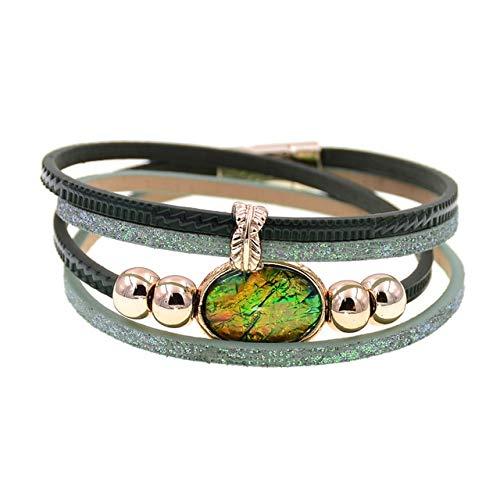 HNOGRG Bracelet Bracelet Femme Bracelet Cuir Bracelet Bracelets Charme pour Femme Brace