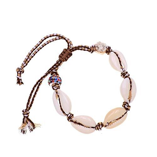 HNOGRG Bracelet Bracelets en Coquille Faits Main Bracelets pour Femmes Perles À Lacets Bracelets Bijoux pour Femmes