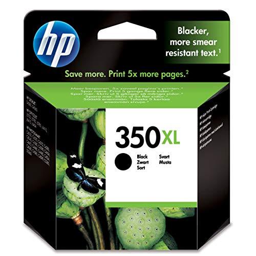 HP 350XL CB336EE pack de 1, haut rendement, cartouche d'encre d'origine, imprimantes HP DeskJet, HP OfficeJet, HP Photosmart, noir