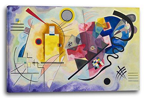 Impression sur toile (120x80cm): Wassily Kandinsky - Jaune-Rouge-Bleu (1925)