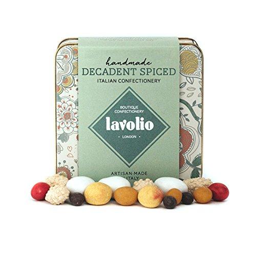 Lavolio Decadent Spiced Confiserie Boîte de Cadeau (175g) - Fabuleuse Sélection de Dragées Italiens, avec Noix Enrobés, Café et Épices, Luxueux Bonbons et Chocolats, Cadeau Parfait pour Lui et Elle