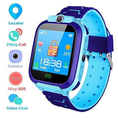Montre Connectée Enfant Fille Garçon Bracelet Telephone LBS Tracker Smartwatch pour Enfants
