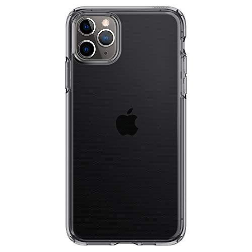 Spigen Coque iPhone 11 Pro [Liquid Crystal] Ultra Mince, Légère, Ajustement Parfait, Protection aux 4 Coins - [Air Cushion] Coque Compatible avec iPhone Pro (2019) - Gris Clair