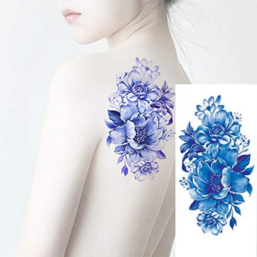 tzxdbh 3pcs Ladies Body Art 3D Homme Tatouage Fleur Fleur de Cerisier Rose Tattoo Sexe étanche 3Pcs-