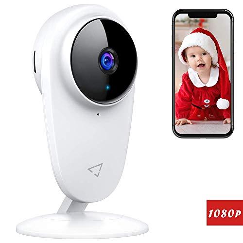 Victure 1080P Babyphone, 2.4GHz Caméra Surveillance WiFi, Caméra de Sécurité Intérieure sans Fil avec Vision Nocturne de Détection de Mouvement Audio Bidirectionnelle