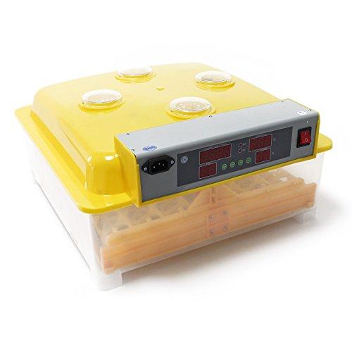 WilTec Couveuse Automatique 48 Oeufs Appareil à couver Incubateur 4 fenêtres de Surveillance