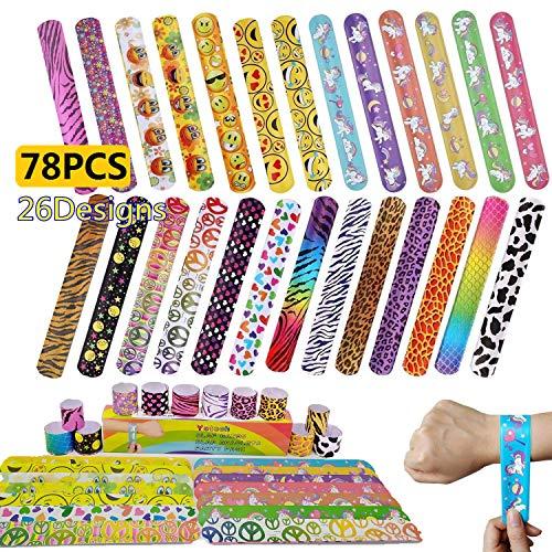 Yetech 78 x Bracelets à Claquer Sacs de Fête Bracelet Enfant Toy pour Enfants Fête d'anniversaire Faveurs Sac Remplisseur