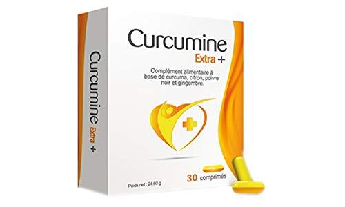 Formule Curcumine Extra + - Complément Alimentaire Curcuma - Lutte contre les Problèmes de Santé - Articulaires - 2 boîtes de 2 blisters (4x15)